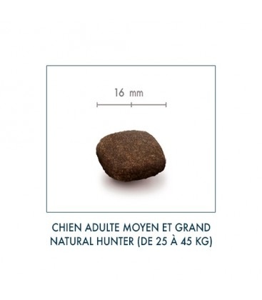 Croquettes Sans Céréales - Natural Hunter - Chien Adulte de Taille Moyenne
