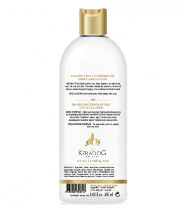 Shampooing 2 en 1 - Démêlant pour poils longs & mi-longs
