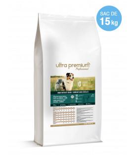 Croquettes Grain Free Sans Céréales Chiot & Chien Sensible Toutes Tailles - 15 kg