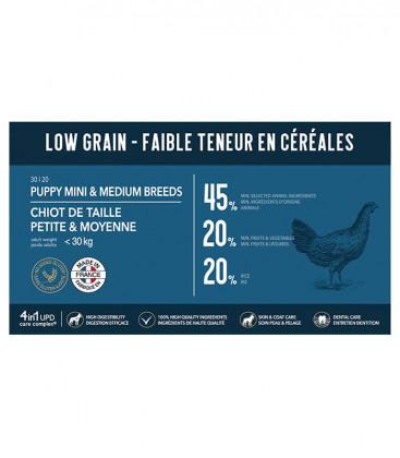 Croquettes Low Grain pour Chiots de Petite et Moyenne Taille
