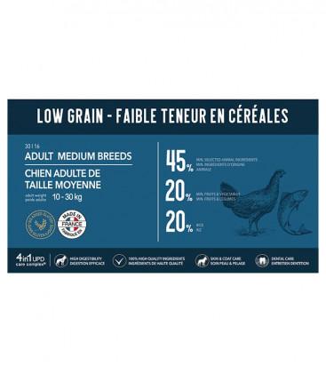 Croquettes Low Grain pour Chiens de Taille Moyenne (de 10 à 30 kg)