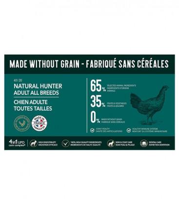 Croquettes Grain Free Sans Céréales - Natural Hunter - Chien Adulte de Taille Moyenne