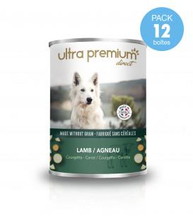Boîtes de pâtée pour chien sans céréales – Agneau, courgette, carotte