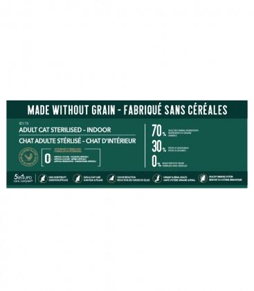 Croquettes Grain Free pour Chats Adultes Stérilisés ou d'intérieur