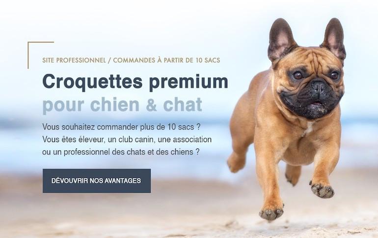 croquettes premium pour chien et chat